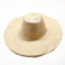 Vintage Natural Knotted Sisal Straw Milliner's Capeline